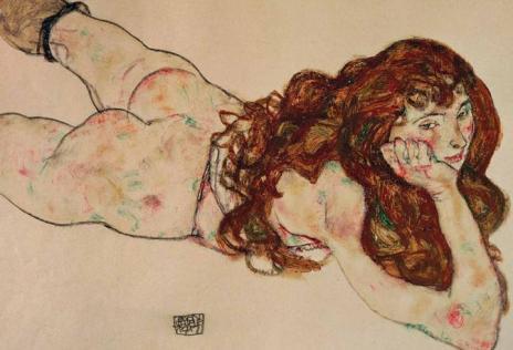 nudo-femminile-sdraiato-su-ventre-1917